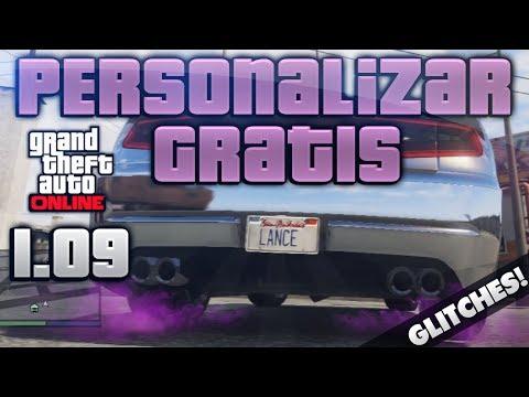 GTA V ONLINE 1.12 PERSONALIZAR COCHES GRATIS MODIFICAR HUMO DE COLORES CAMBIAR MATRICULAS