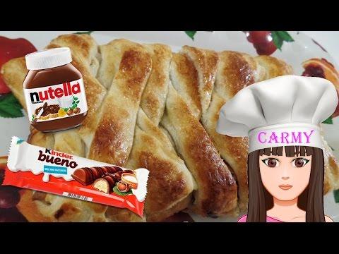 Treccia con Kinder Bueno e Nutella! -Kinder Bueno és Nutella süti