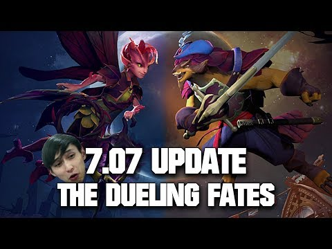 arteezy dark willow mid with new item dota 2 7 07 dueling fates