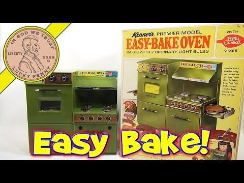 1969 Betty Crocker Easy Premier Model Bake Oven. Kenner Toys - Chocolate Cake & Oatmeal Fruit Bars!