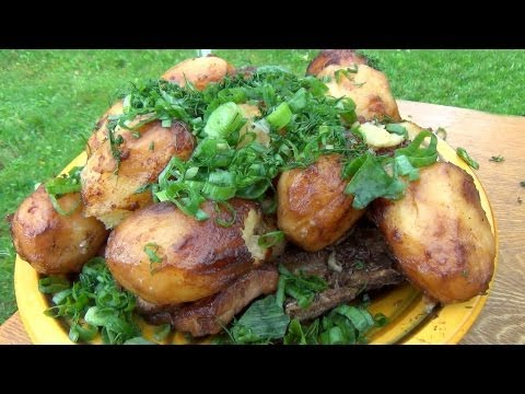 Картошка с мясом в казане