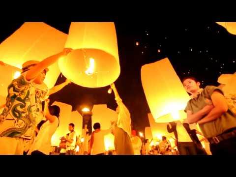 1,000 Thai Sky Lantern during Loy Krathong Festival