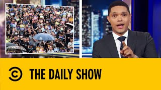 Massive Protests Bring Hong Kong Airport To A Standstill | The Daily Show with Trevor Noah