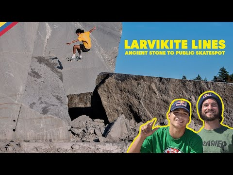 Ancient Stone to Public Skatespot with Torey Pudwill & Crew | LARVIKITE LINES