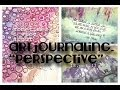 "sometimes i vlog about ""perspective"" art journaling"
