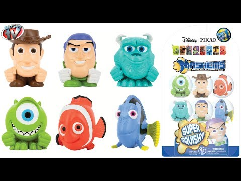Disney Pixar Mashems Mystery Blind Pack Unboxing & Toy Review. Tech 4 Kids