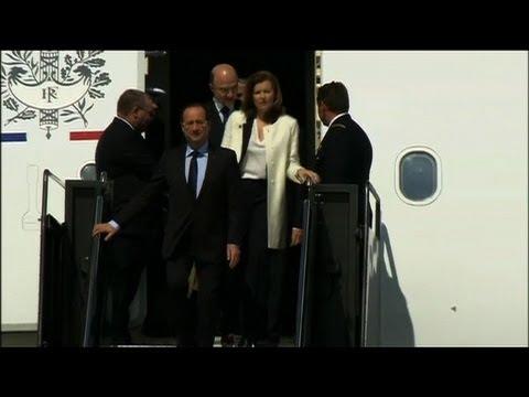 François Hollande arrive aux Etats-Unis pour le G8