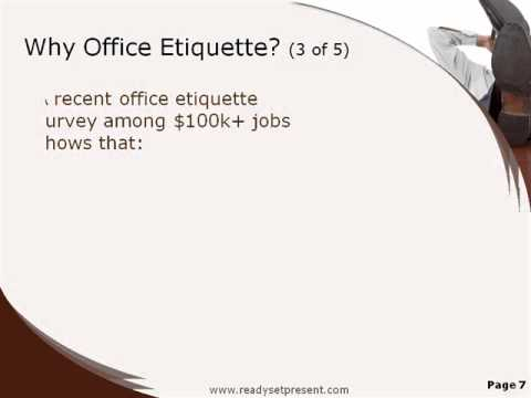 Office Manners And Etiquettes Office Etiquette Powerpoint
