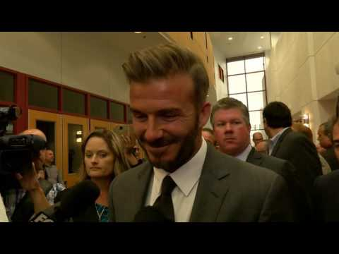 DAVID BECKHAM TALKS POSSIBLE LAS VEGAS STADIUM