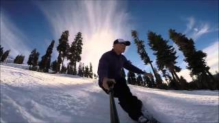 2015 0117 Asriel Skiing at China Peak Sierra Summit with Go-Pro and Smartree Go-Pro Holder