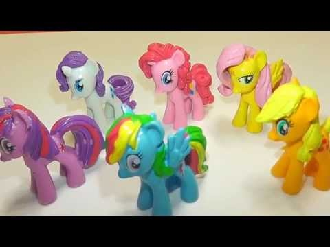 Toys My Little Pony hidden in Play Doh