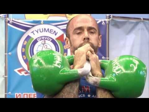 Biathlon Jerk Kiiashko(116 reps) Arslanov(113 reps) - WC Girevoy Sport 2013