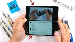 A DUAL SCREEN Smart Phone?! - Durability Test