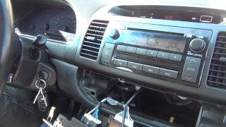 GTA Car Kits - Toyota Camry 2002-2006 install of iPhone, Ipod and AUX adapter for factory stereo
