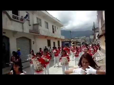 Banda Colegio Santa Marta 2,015 Presentación en el municipio de Nebaj, Quiche