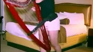 Woman plays Despacito on harp