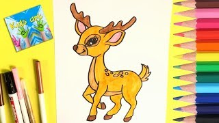 All Clip Of Deer Cute Drawing Bhclip Com