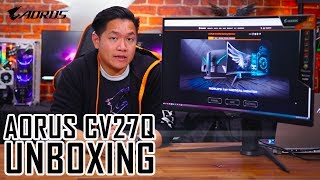AORUS CV27Q Monitor | First Look & Unboxing