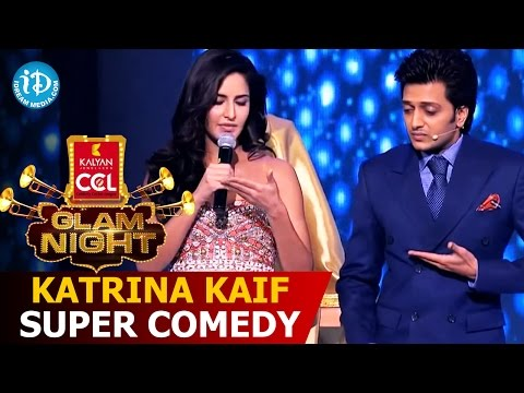 Katrina Kaif Super Comedy with Ritesh @CCL Glam Nights