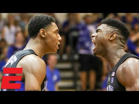 Zion Williamson, RJ Barrett shine as Duke dominates San Diego State | CBB Highlights