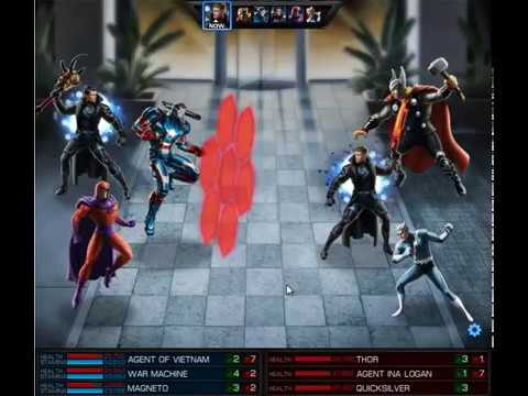[ Marvel Avengers Alliance ] Magneto & Iron Patriot