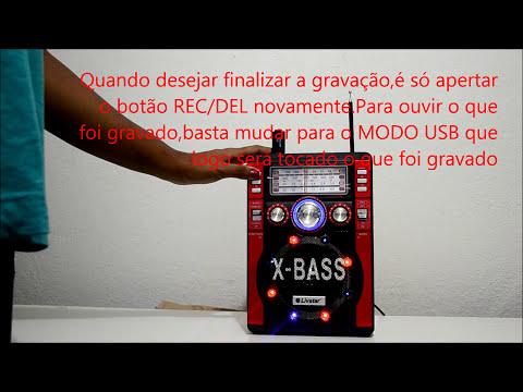 Caixa Som Amplificador gravador usb sd am fm radio