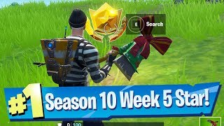 Fortnite Season 10 Week 5 Secret Battle Pass Star Location