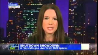 Carol Roth Piers Morgan Political Theater Government Shutdown Debt Ceiling CNN
