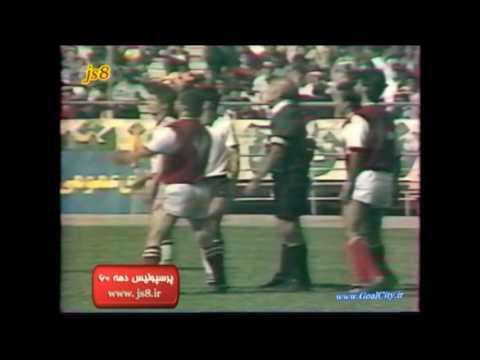 دیدار تیمهای فوتبال پرسپولیس و شاهین در فینال مسابقات جام باشگاههای تهران در سال ۱۳۶۵
