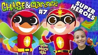 Chase & Clarence: SUPERHERO KIDS!    DOH MUCH FUN Animated Shorts #7