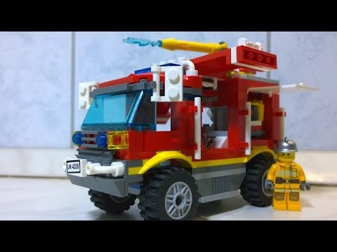 LEGO Fire Engine Lego City LEGO Fire Truck LEGO FIREMAN Feuerwehrwagen-brannbil-brandman
