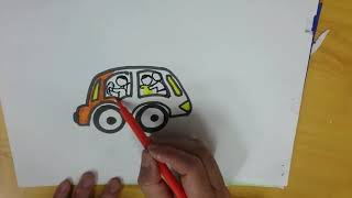 Draw a car for Kids Step by step Very Easy