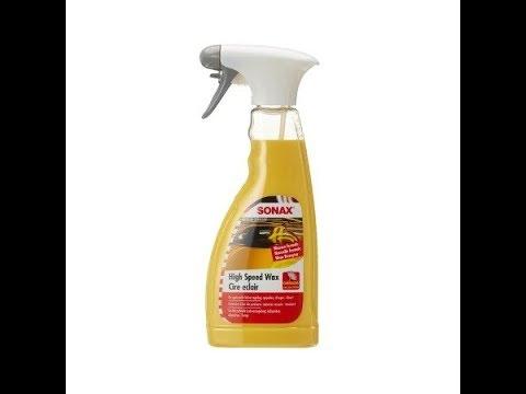 Sonax High Speed Wax water test