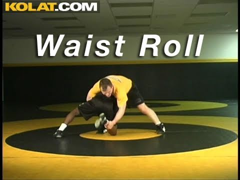 Waist Roll High Crotch Defense KOLAT.COM Wrestling Techniques Moves Instruction Image 1