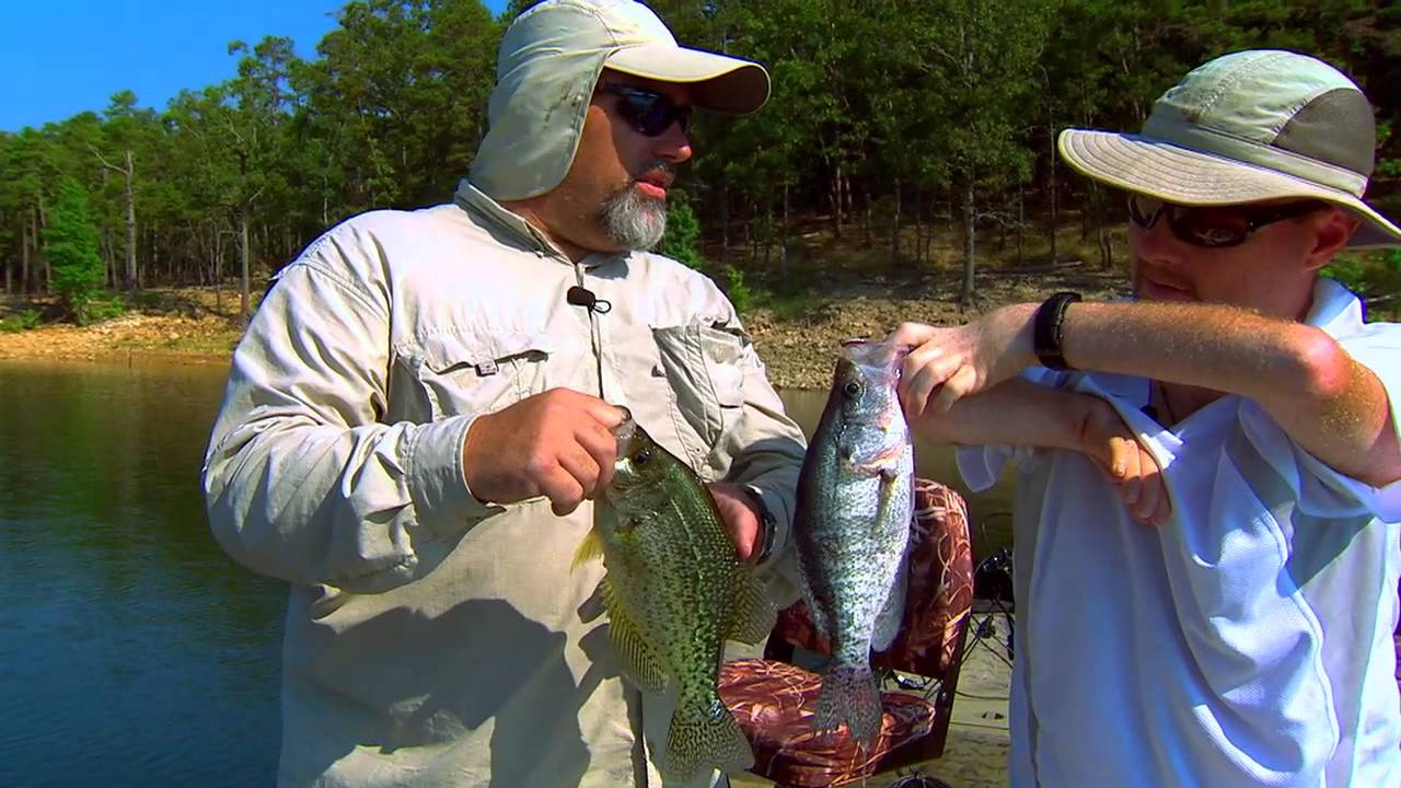 Broken bow summertime crappie youtube for Broken bow lake fishing report
