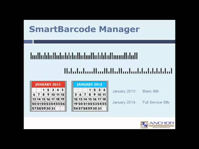 SmartBarcode Manager for Intelligent Mail