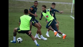 Neymar, Coutinho train as Brazil continue FIFA World Cup preparations