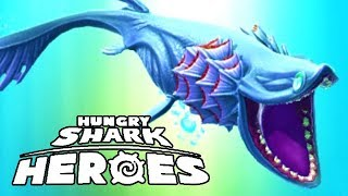 NEW FRILLED SHARK!!! (HUNGRY SHARK HEROES)