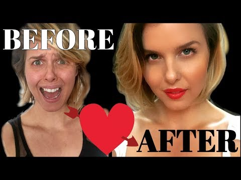 VALENTINE'S GRWM!! BEFORE AND AFTER- MAKEUP TUTORIAL (ISH)!  VEGAN AND CRUELTY FREE!!