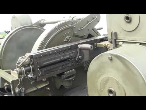 Restored m45 quad 50.cal and M17 trailer detail walk around video