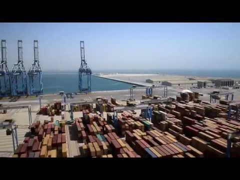 Execução da ilha de porto de Abu Dhabi
