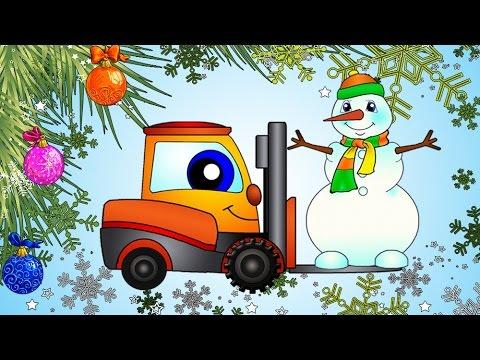 Çizgi film – Yılbaşı ağacı ve kardan adam
