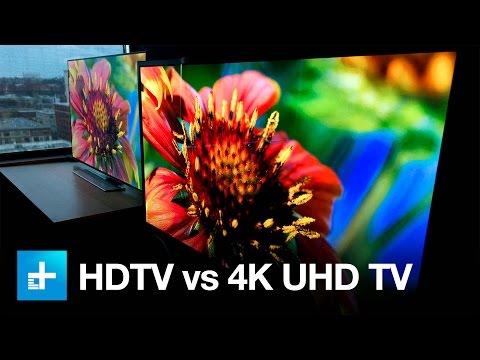 4K UHD TV vs. 1080p HDTV - Side by Side Comparison