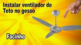 Posso instalar ventilador de teto no gesso ?