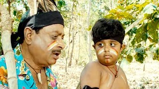 MS Narayana And His Son Comedy in Forest - Routine Love Story Movie Scenes