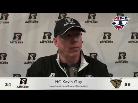 5-2-15; Arizona Rattlers Vs. San Jose Sabercats, Post Game Press Coach Kevin Guy & BJ Coleman