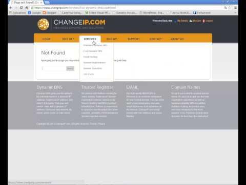 DDNS gratuito para acesso remoto, criação de conta change IP