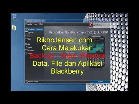 Cara Backup Wipe Restore Data Kontak File Aplikasi BBM Blackberry