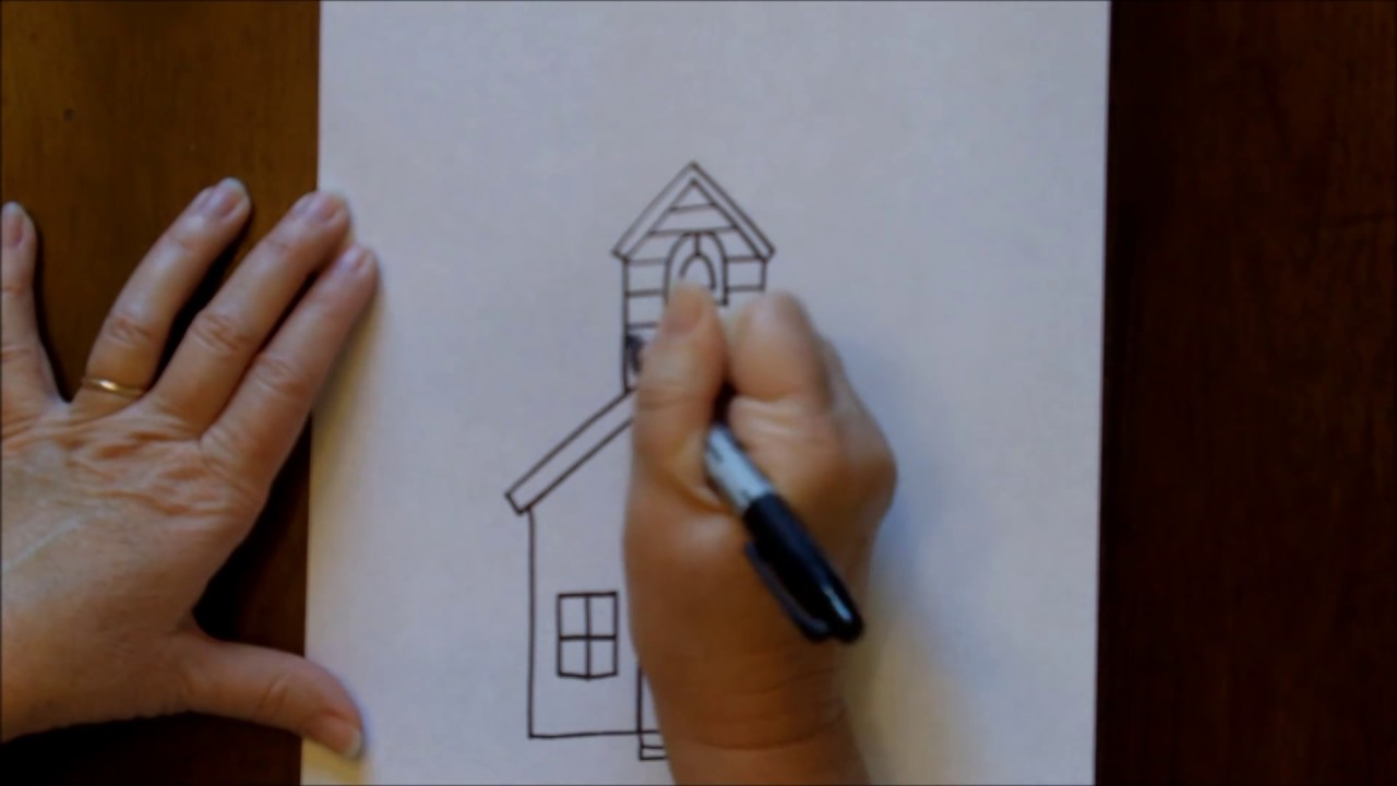 Basic School Drawing How to Draw a Schoolhouse