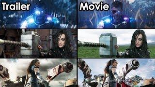 Thor: Ragnarok - Trailer vs Movie Comparison [4K UHD]